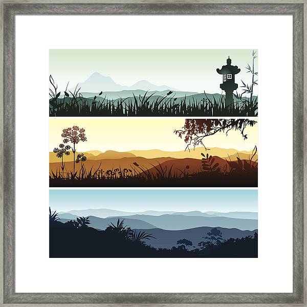 Landscape Banners Framed Print by Bettafish