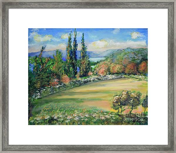 Landscape From Kavran Framed Print
