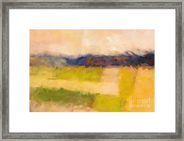 Landscape Abstract Impression Framed Print