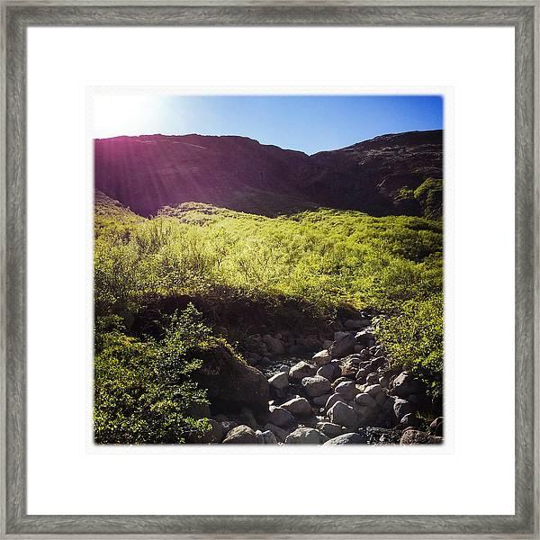 Landscape In Iceland Laugarvatn Framed Print