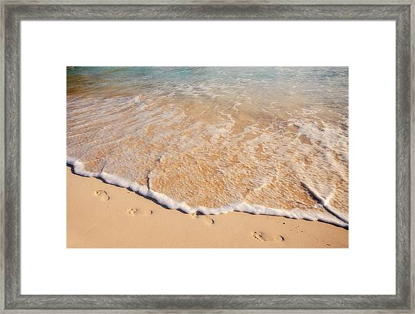 Landscape Photograph Of A Sandy Costal Framed Print