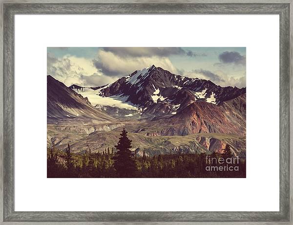 Landscapes On Denali Highway.alaska Framed Print