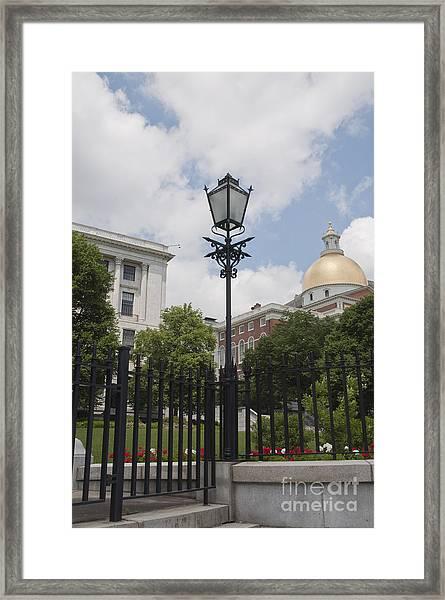 Lantern At State House Framed Print