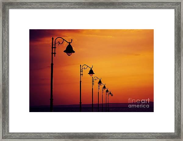 Lanterns Framed Print