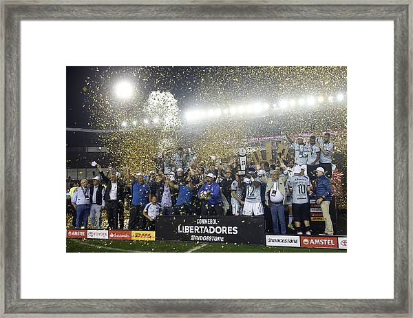 Lanus V Gremio - Copa Conmebol Libertadores 2017 Framed Print by Demian Alday