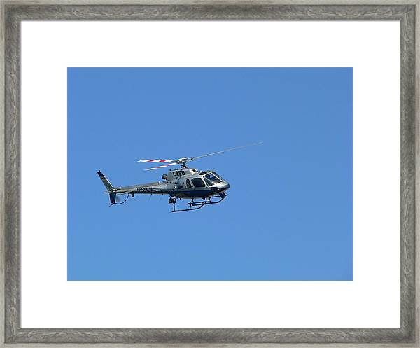 Lapd Helicopter Framed Print