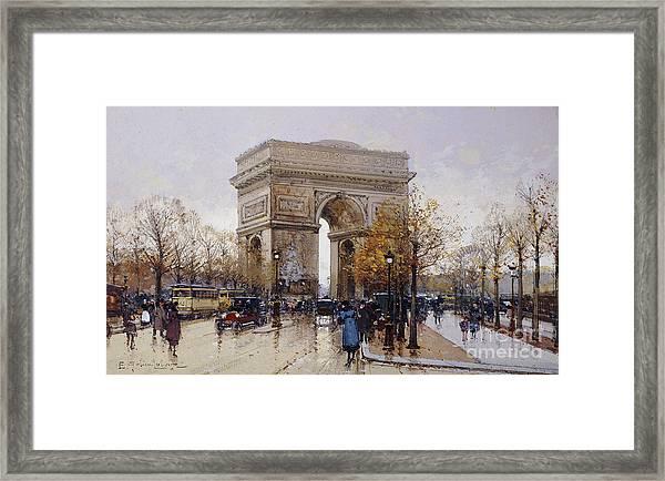 L'arc De Triomphe Paris Framed Print