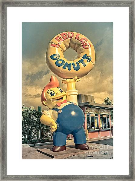 Framed Print featuring the photograph Lard Lad Donuts by Edward Fielding