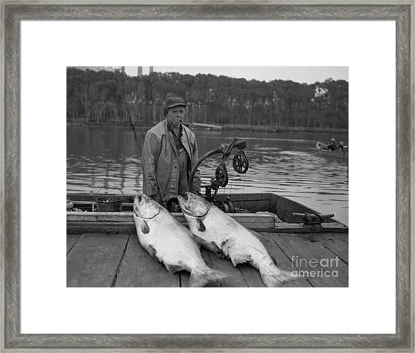 Large King Salmon Moss Landing Monterey California  Circa 1955 Framed Print