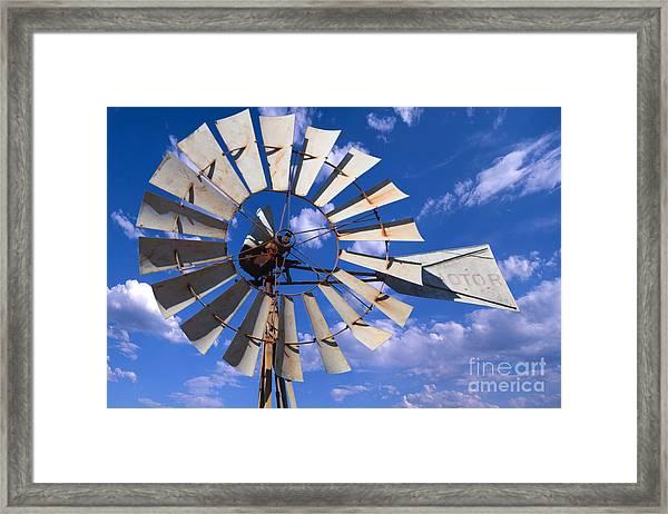 Large Windmill Framed Print