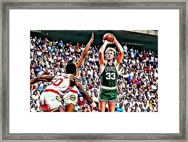 Larry Bird Framed Print