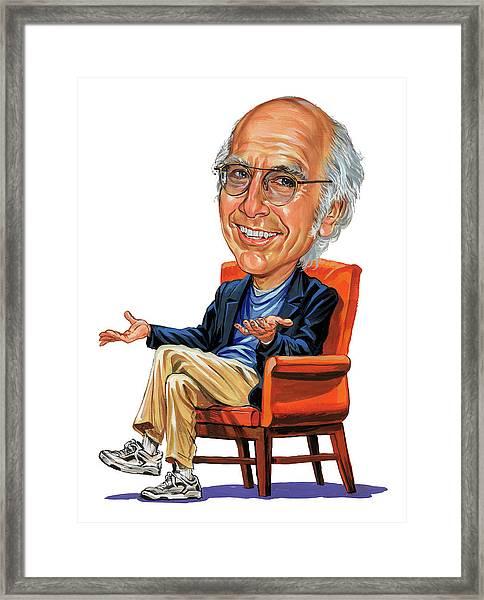 Larry David Framed Print by Art