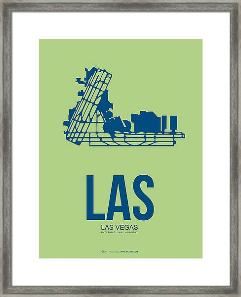 Las Las Vegas Airport Poster 2 Framed Print