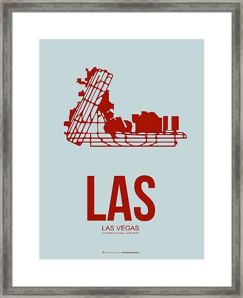 Las Las Vegas Airport Poster 3 Framed Print