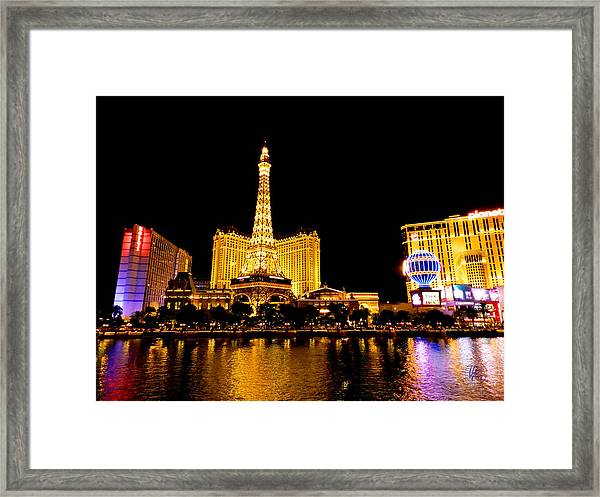 Framed Print featuring the photograph Las Vegas 012 by Lance Vaughn