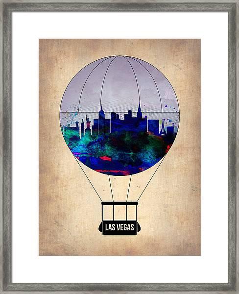 Las Vegas Air Balloon Framed Print