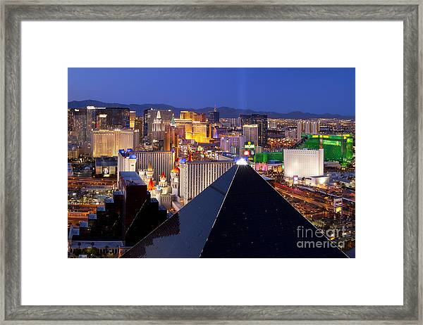 Framed Print featuring the photograph Las Vegas Skyline by Brian Jannsen