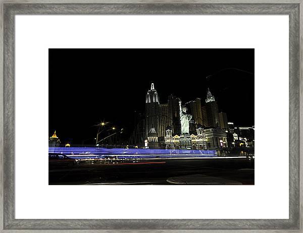 Las Vegas Traffic 2 Framed Print
