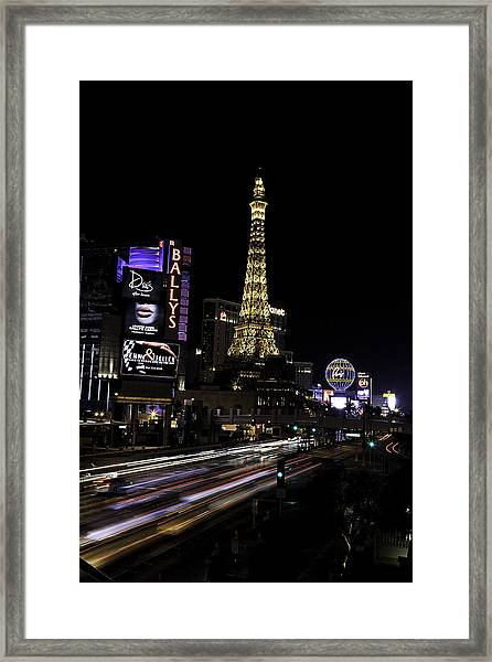 Las Vegas Traffic 5 Framed Print