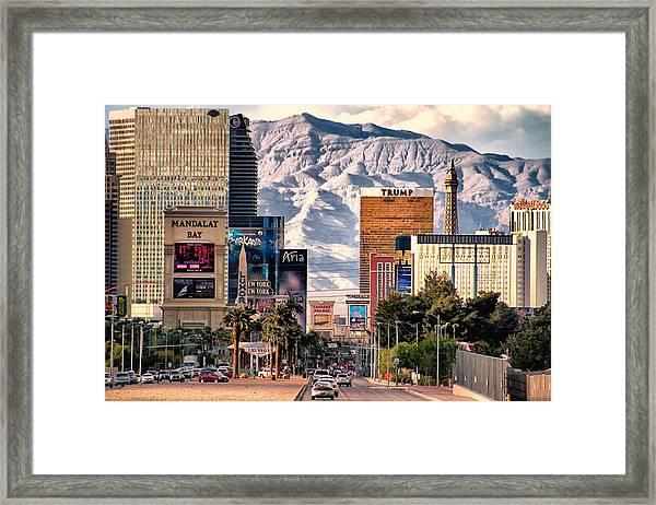 Las Vegas Nevada Framed Print