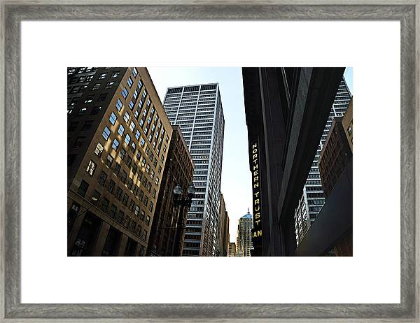 Lasalle Street Framed Print