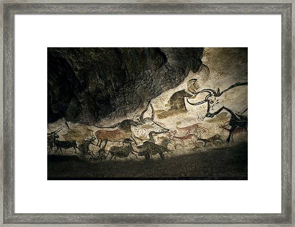 Lascaux II Cave Painting Replica Framed Print by Science Photo Library
