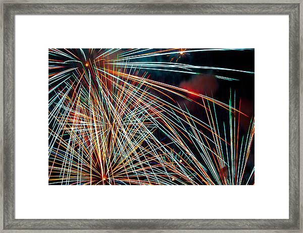 Lasers Framed Print