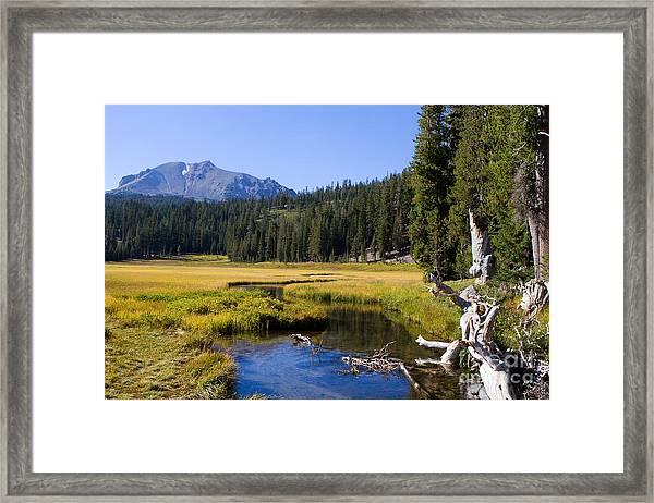 Lassen Mountain Stream Framed Print