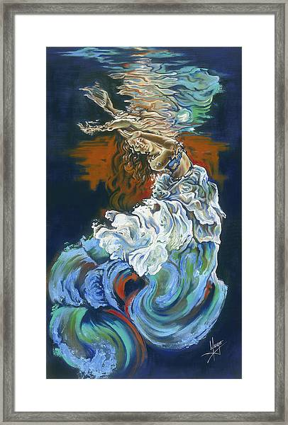 Dive Into Your Soul Framed Print