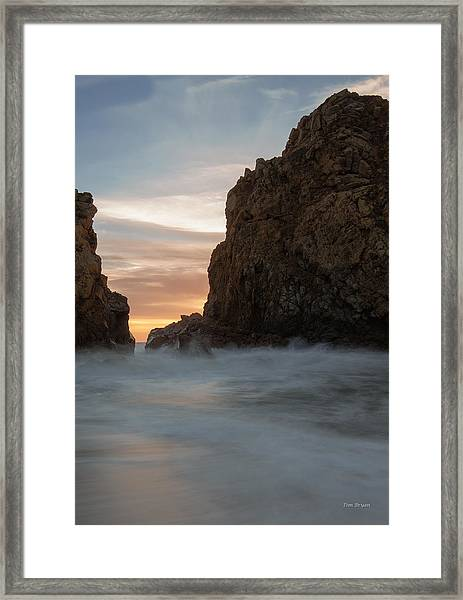 Last Light At Big Sur Framed Print