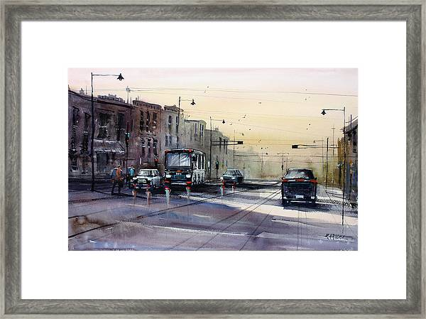 Last Light - College Ave. Framed Print