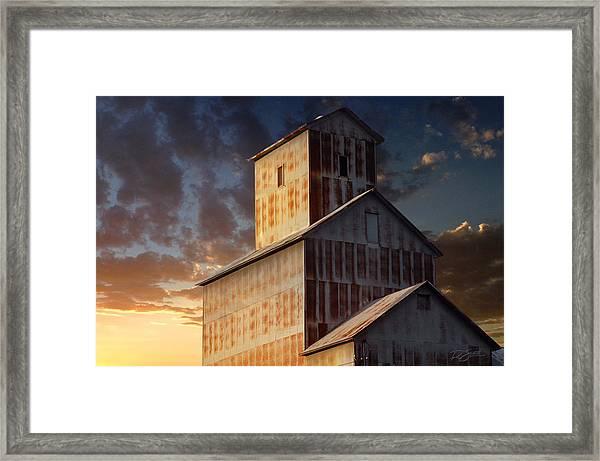 Last Light On Burns Elevator Framed Print
