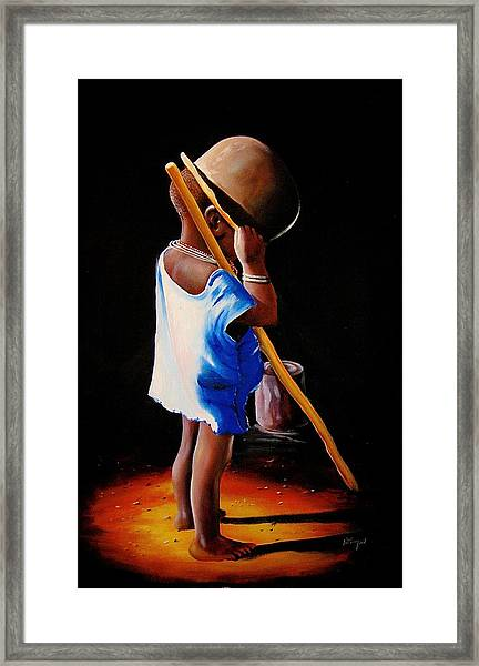 Last Of The Stew Framed Print