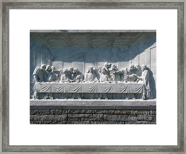 Last Supper Framed Print by Greg Patzer