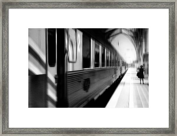 Last Train Leaving Paris Framed Print