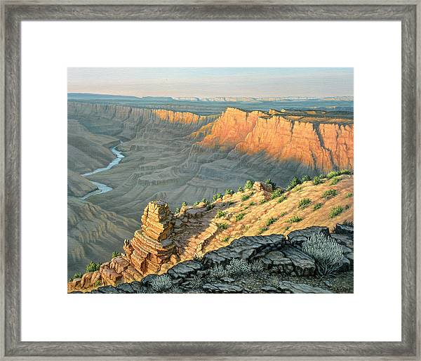 Late Afternoon-desert View Framed Print