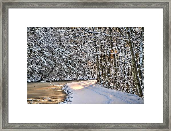 Late Afternoon In The Snow Framed Print