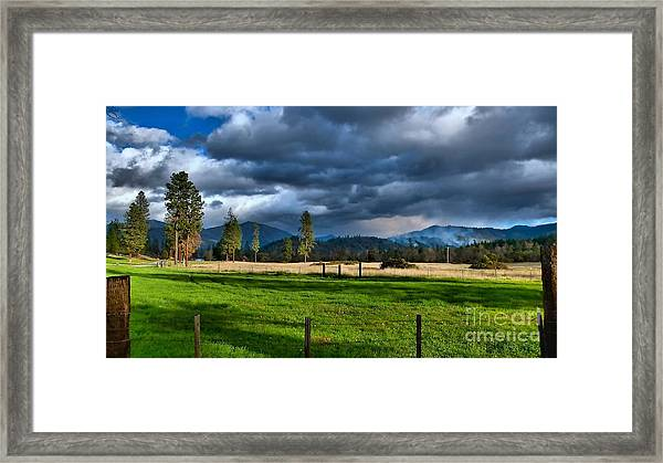 Late Afternoon Weather Framed Print