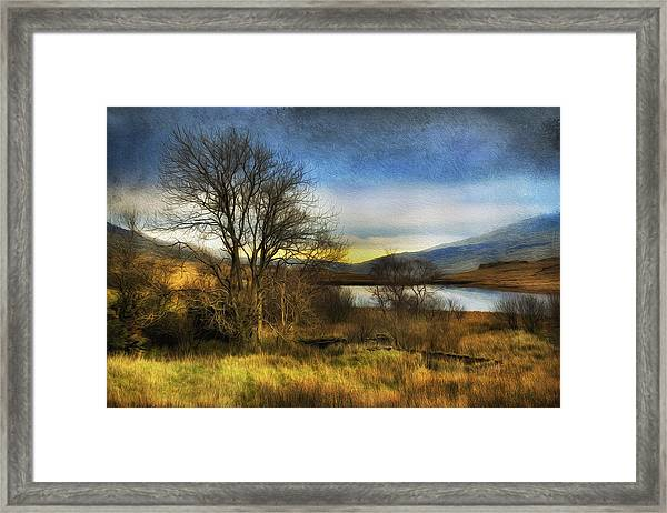 Snowdonia Autumn Lake Framed Print