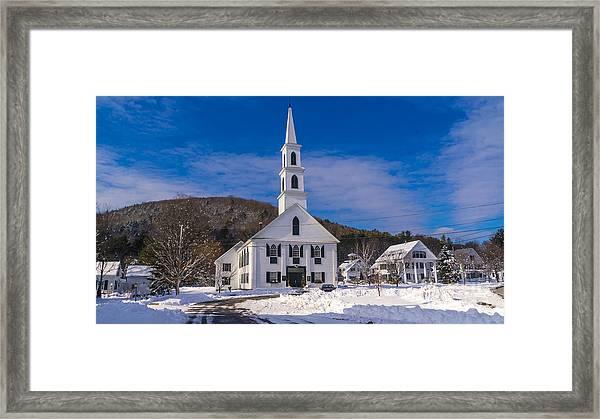 Late Autumn Snow. Framed Print