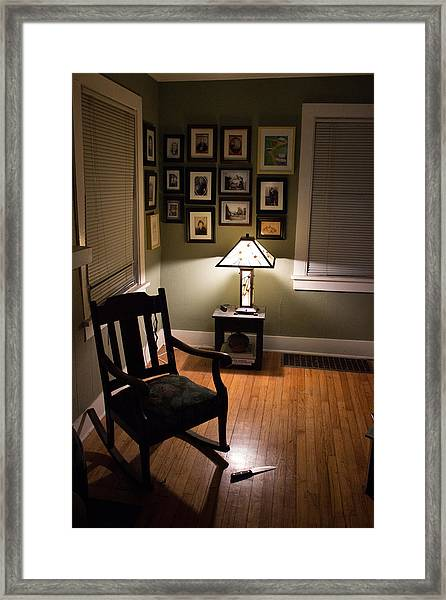 Late In The Night Framed Print