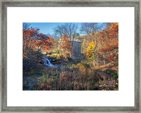 Late October At Pickwick Mill II Framed Print