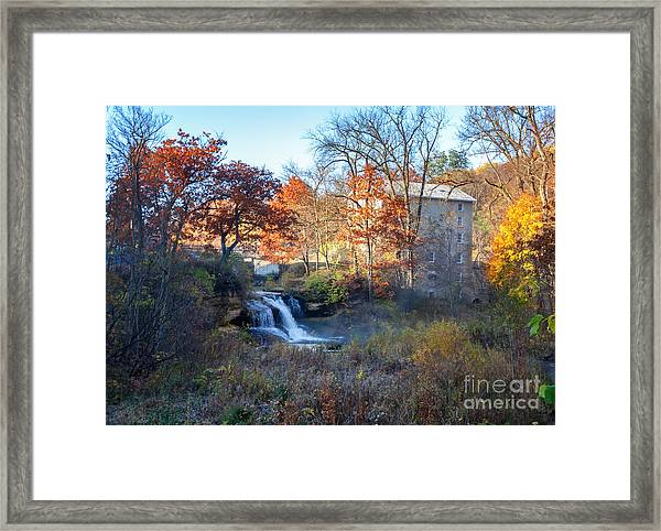 Framed Print featuring the photograph Late October At Pickwick Mill by Kari Yearous