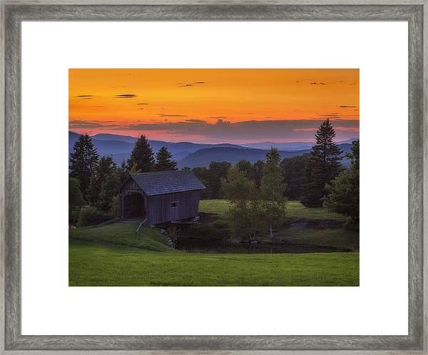 Late Summer Sunset Framed Print