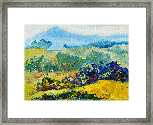Late Summmer Landscape Framed Print