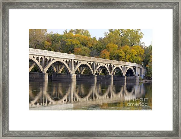 Framed Print featuring the photograph Latsch Island Wagon Bridge by Kari Yearous