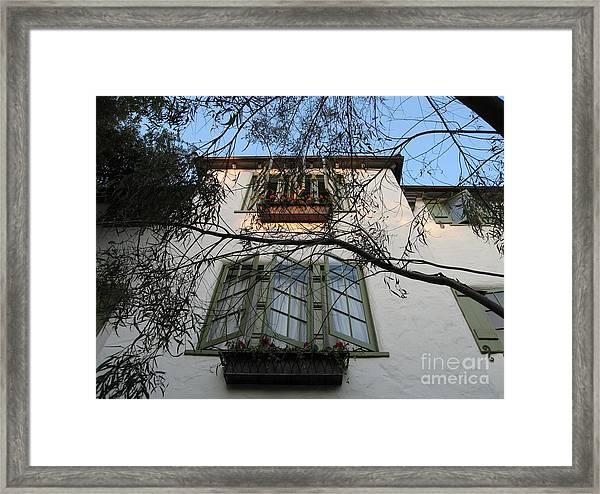 L'auberge Facade Framed Print