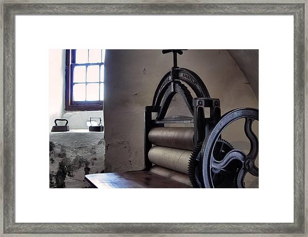 Laundry Press Framed Print