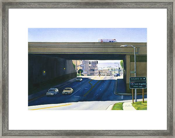 Laurel Street Bridge San Diego Framed Print by Mary Helmreich