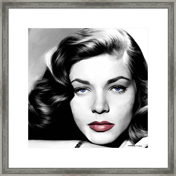 Lauren Bacall Large Size Portrait Framed Print